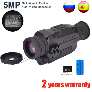 Monocular Infrared Digital Night Vision  5X40 200M range
