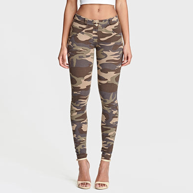Pants Stretchable Push Up Camouflage Pants ankle-length Women