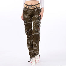 Load image into Gallery viewer, Pants Cargo for Women Military High Waist