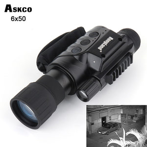 Monocular 6x50 infrared day and night vision goggles 320m range for picture video shooting