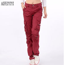 Load image into Gallery viewer, Pants Denim  Men/Womens  Multi-Pocket Baggy Jeans Cargo Pants