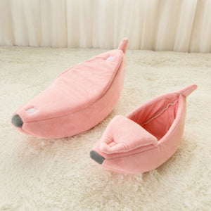 Pet Cat Bed House  Banana Puppy Cushion Bed