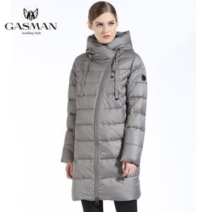 Jacket Women Winter Long Thick Coat Hooded Down Parka
