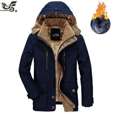 Jacket Men High Quality Fleece Cotton-Padded
