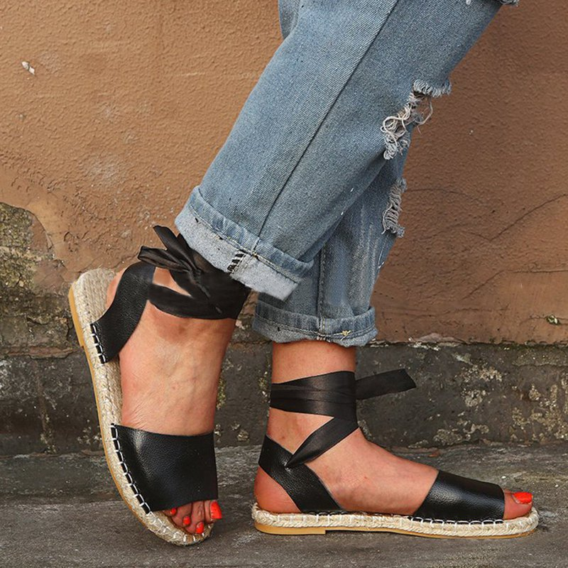 Ankle Straps Flat Sandals Women