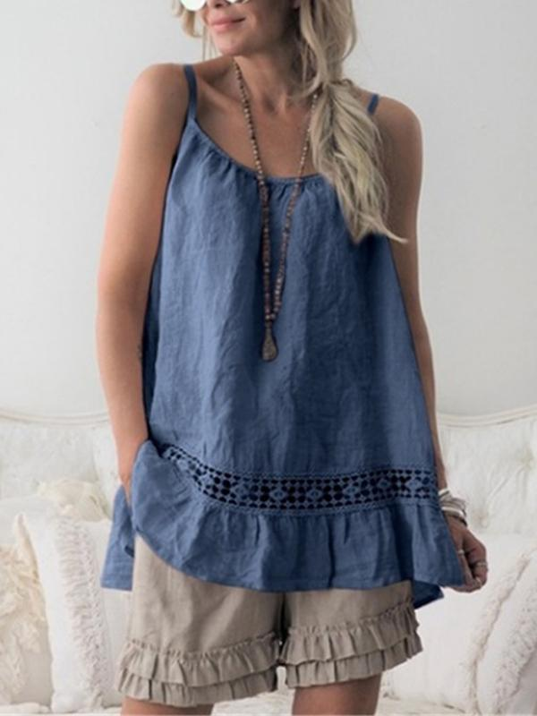 CASUAL SLEEVELESS CASUAL TOPS