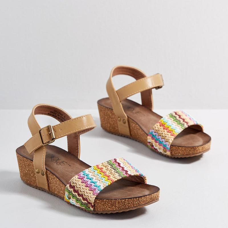 Women Personal Preference Cork Wedge Casual Sandals