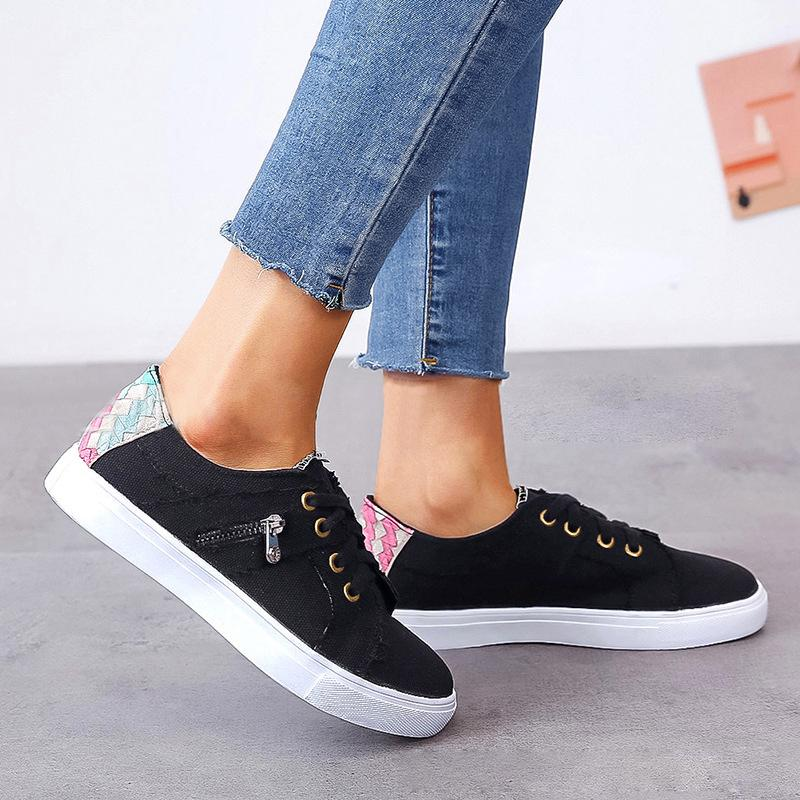 Women's Comfortable Canvas Sneaker Cloth Stitching Shoes