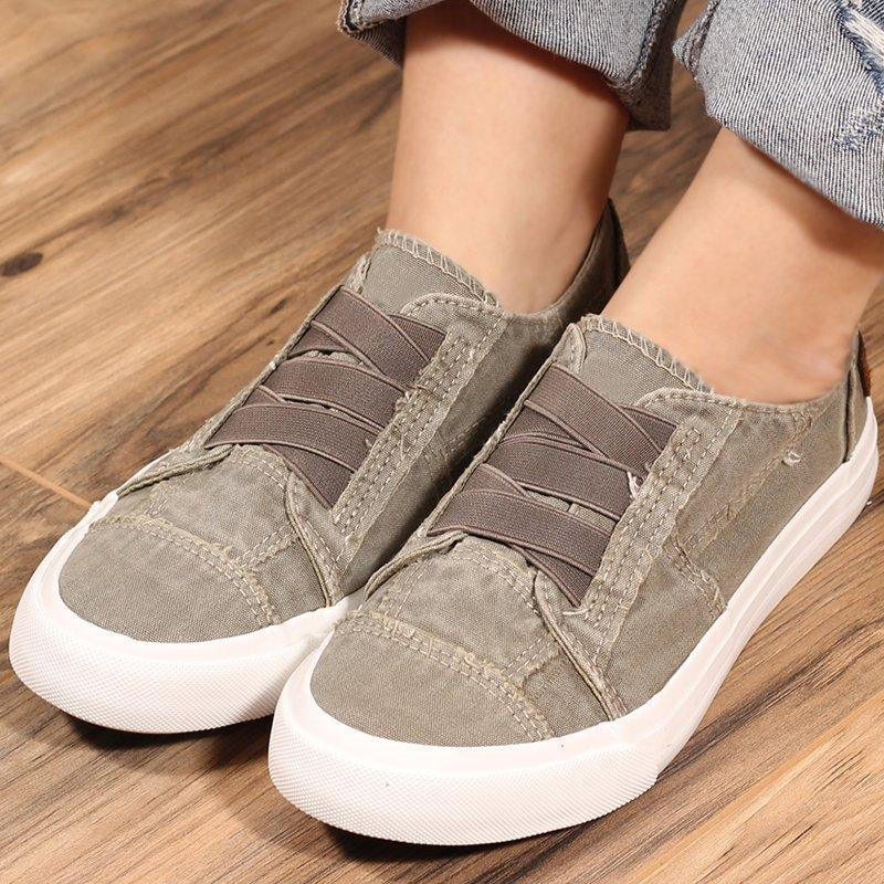 Women Crisscross Lace-up Canvas Sneakers