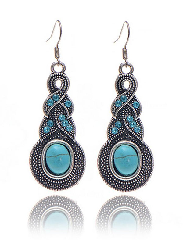 Womens Vintage Alloy Pendant Earrings
