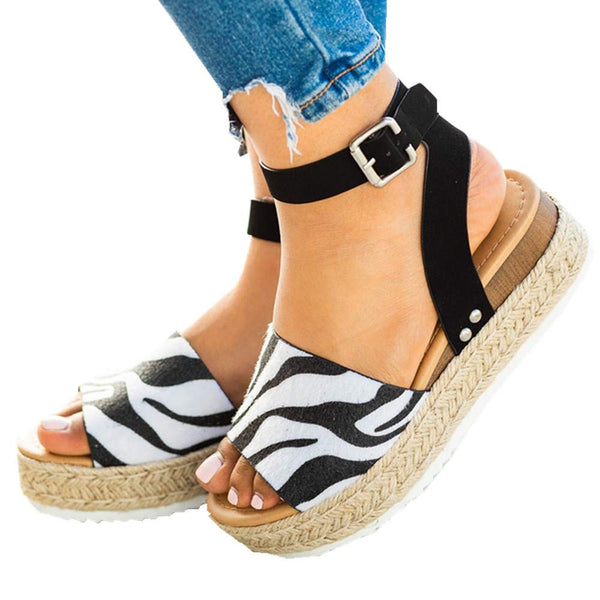 Women Summer Adjustable Buckle Platform Sandals