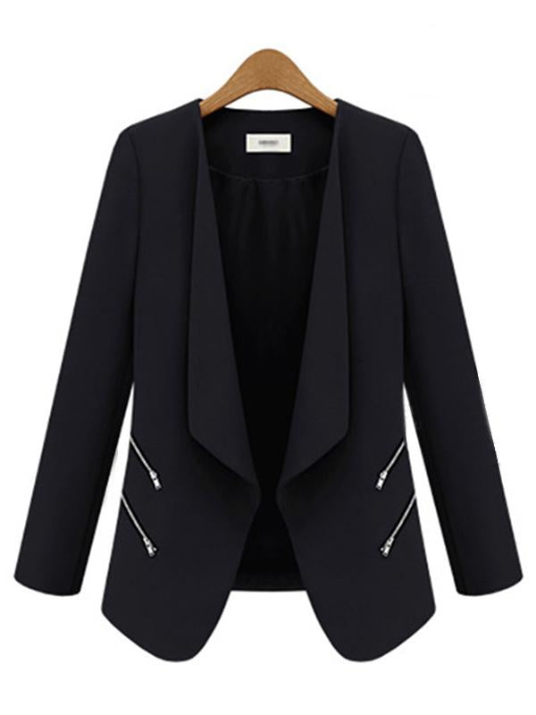 Women Shawl Collar Long Sleeve Blazer Coat