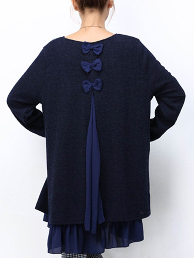 Women Deep Blue Solid Casual Tunic