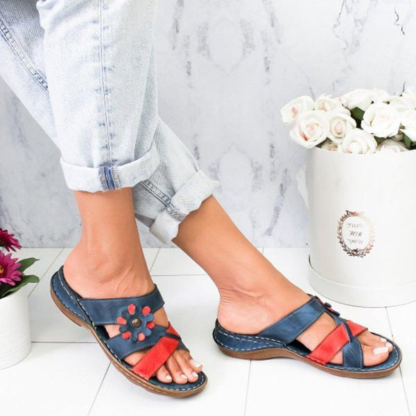 Women's Summer Floral Comfortable Sandals Slide Slippers