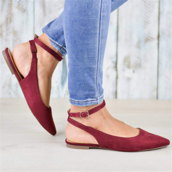 Fashion Pointed Suede Flats