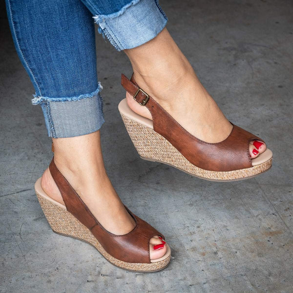 Summer Casual Slingback Wedges Sandals