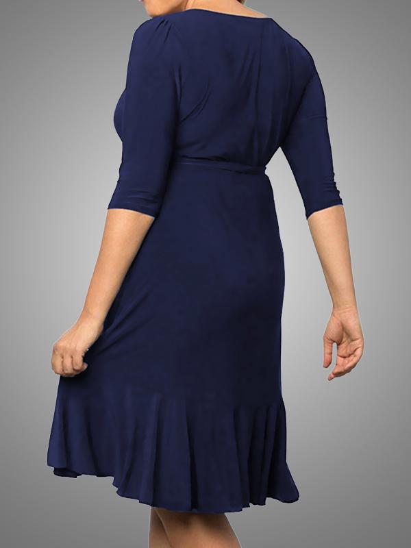 Women's Plus Size Wrap Dress V Neck Short Cocktail Party Casual Whimsy Dresses