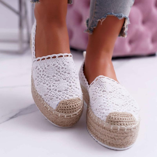 Women's Slip-on Espadrilles Platform Shoes With Lace