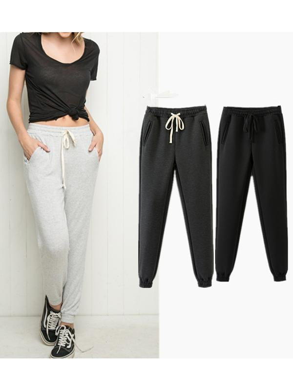 Women Daily Drawstring Sports Pants Yoga Trousers