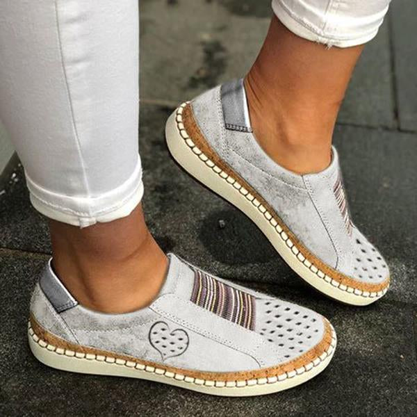 Women All Season Pu Flat Heel Casual Sneakers