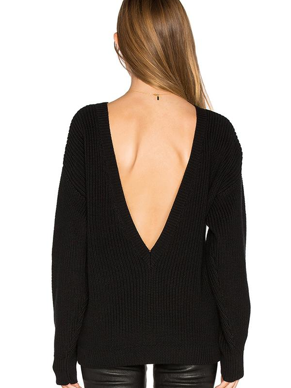 Women Backless Sexy knitting Tops