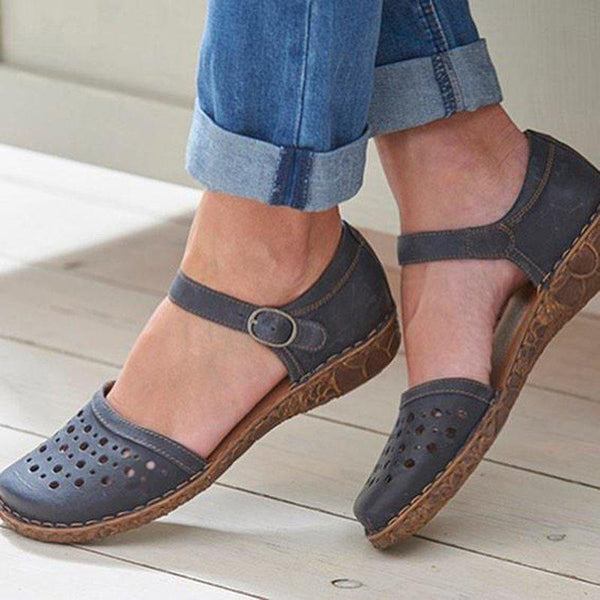 Women Summer Ladies Round Toes Hollow-out Sandals