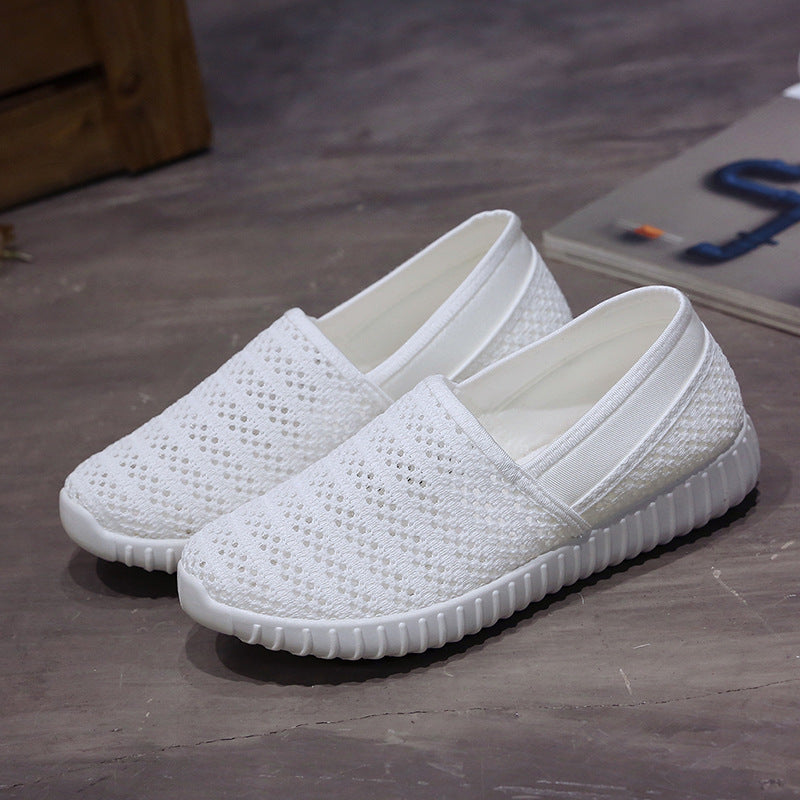 Women Casual Mesh Breathable Soft Sole Shoes Flats