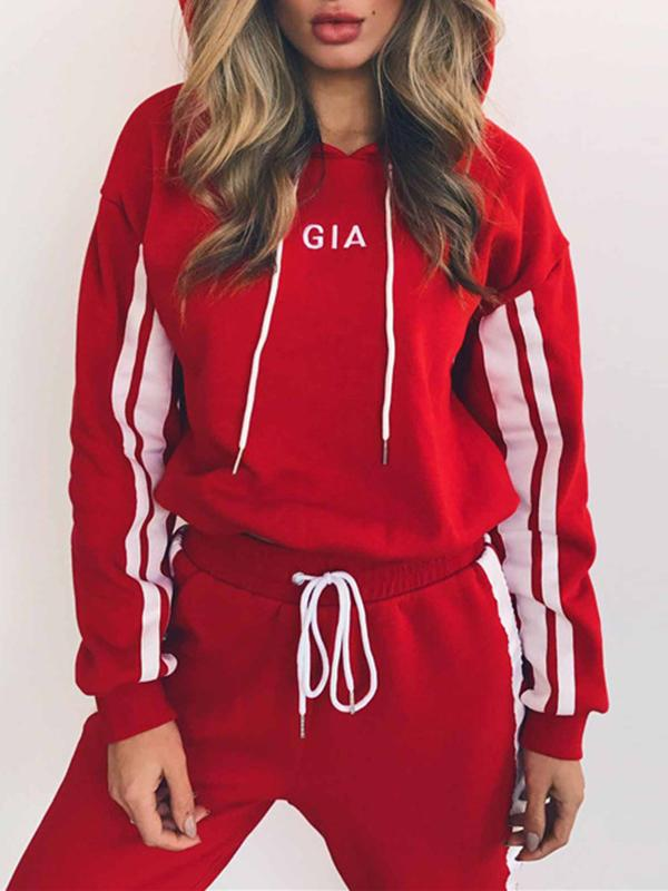 Women Long Sleeve Hoodies Top And Pants Sportswear Suit Casual Tracksuit Outfits