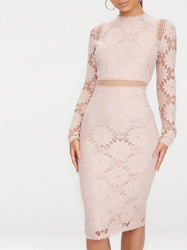 Women Lace Hollow Sheath Dresses