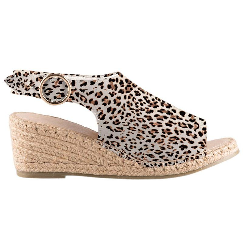 Women Peep Toe Woven Espadrille Sandals Wedges Summer Shoes