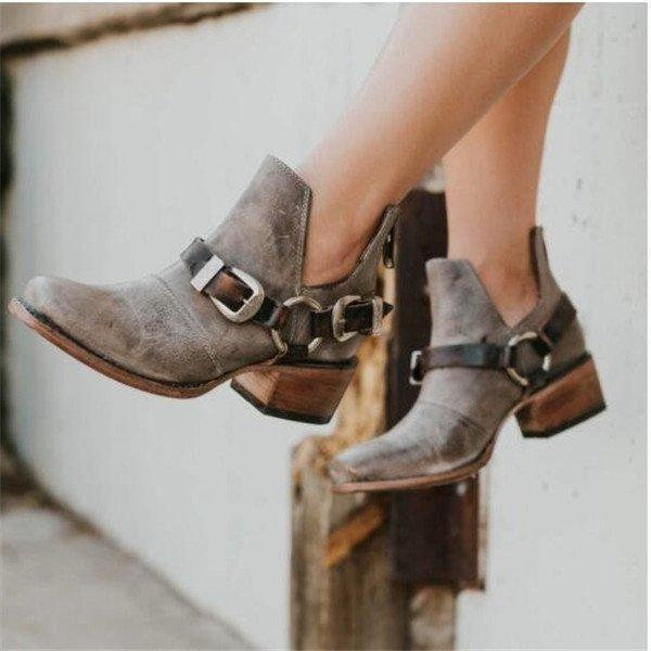 Women Vintage Plus Size Booties Casual Shoes