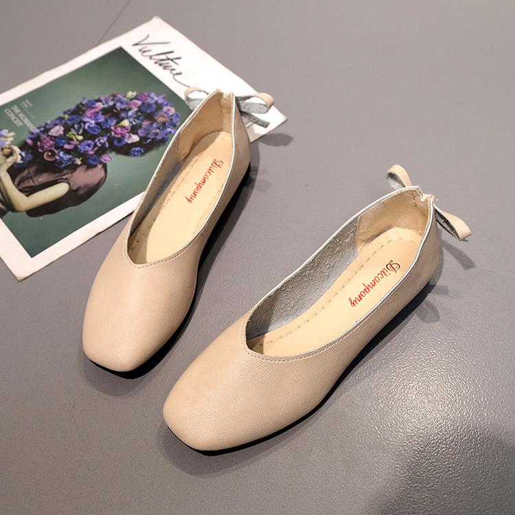 Women Bowknot Flat Soft Casual Shoes