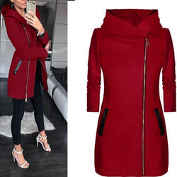 Autumn And Winter New European And American Fashion Side Zipper Women's Jacket