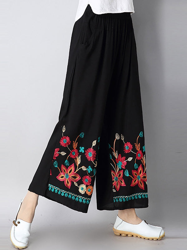 Women Floral Printed Casual Pants