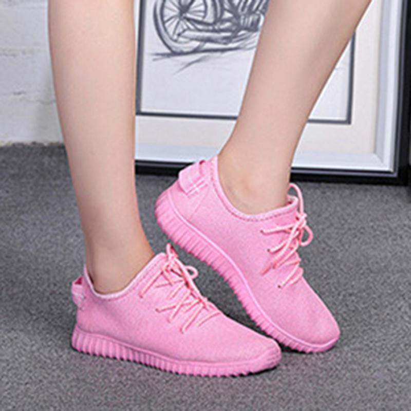 Women Fly Woven Fabric Sneakers Casual Comfort Sport Shoes