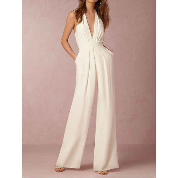 Sleeveless Casual Spandex Elegant Jumpsuits