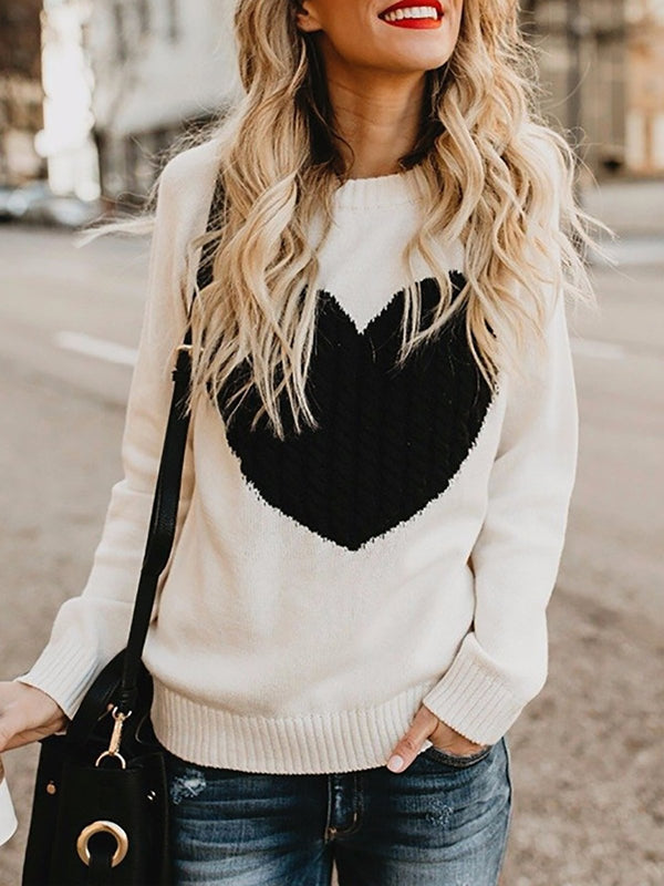 Women Shift Casual Crew Neck Knit Top