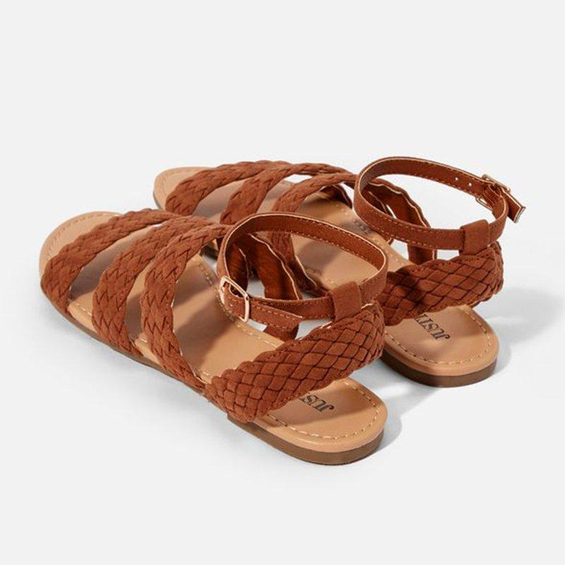 Women Casual Braided Strap Buckle Sandals