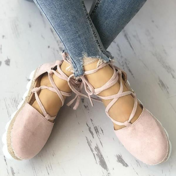 Casual Strappy Espadrille Flats Shoes