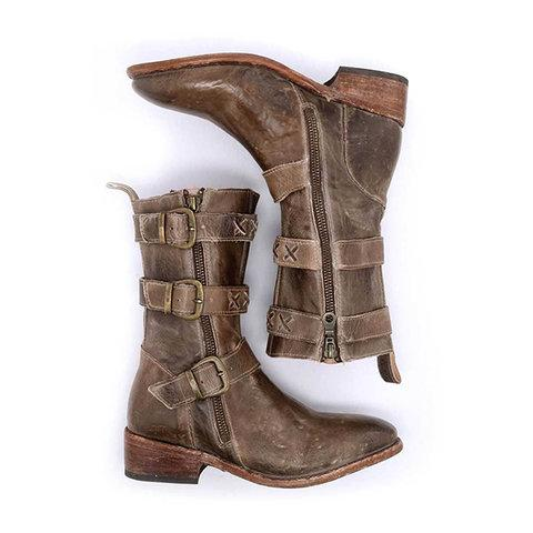 Womens Winter Vintage Boots Casual Buckle Ankle Shoes