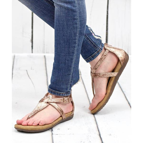 Summer Casual Starlight Metallic Sandals