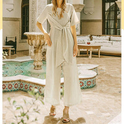 Super Comfy Loose Linen Jumpsuits