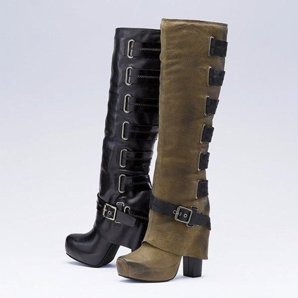 Womens Vintage Daily Winter Knee Boots