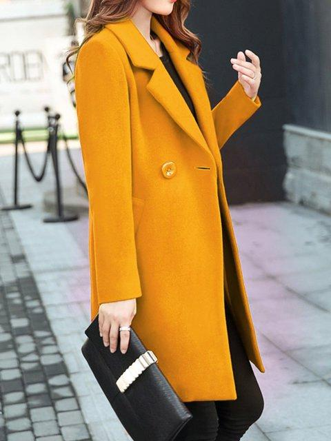 Women Winter Mid-Long Woolen Coat