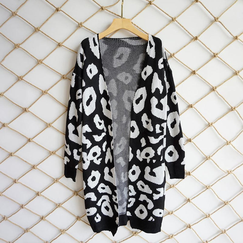 Women Camouflage Long Sleeve Open Front Cardigan