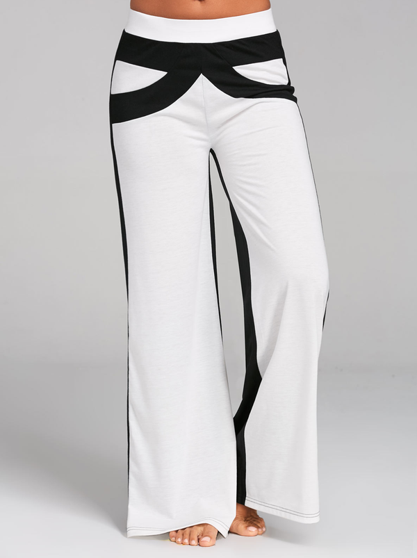 Women Polyester Paneled Casual Pants