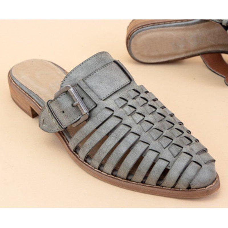 Women Casual Mule Sandals Slip On Shoes Slippers