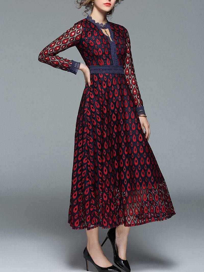 Women Elegant Embroidered Long Maxi Dress