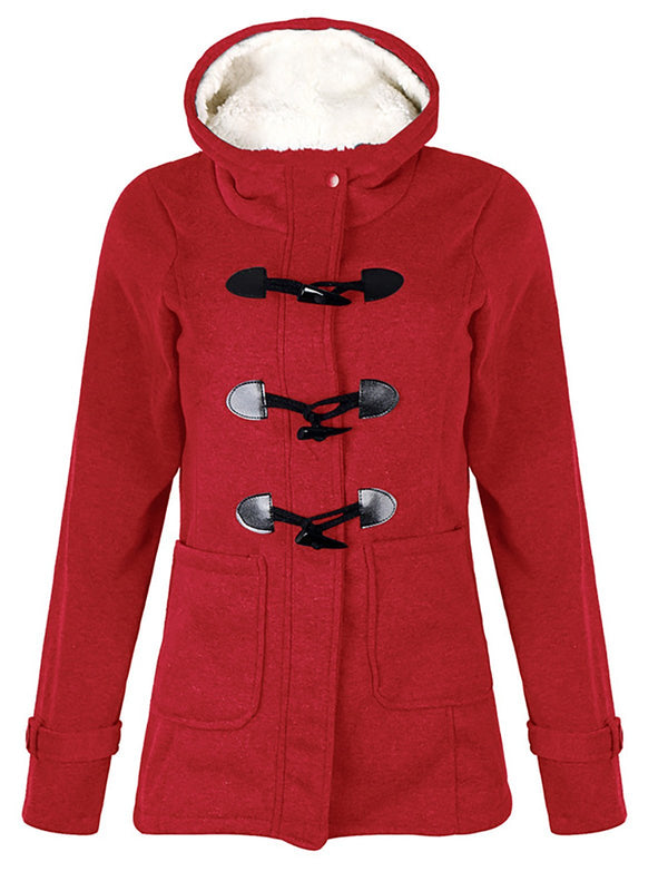Women's Plus Size Paneled Hoodie Outerwears