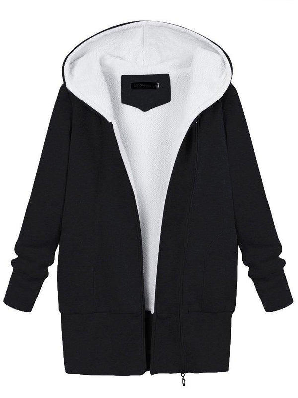 Asymmetric Pockets Zipper Hoodies